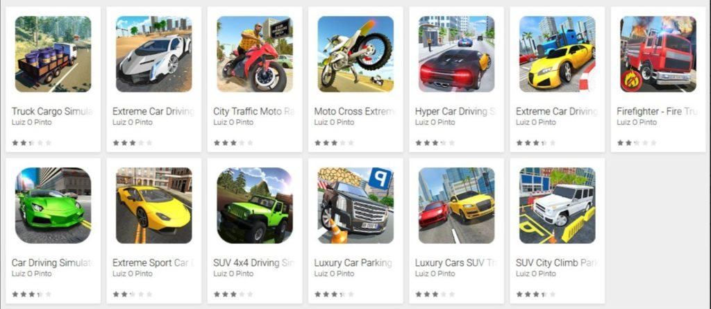 Google Play Store Driving games