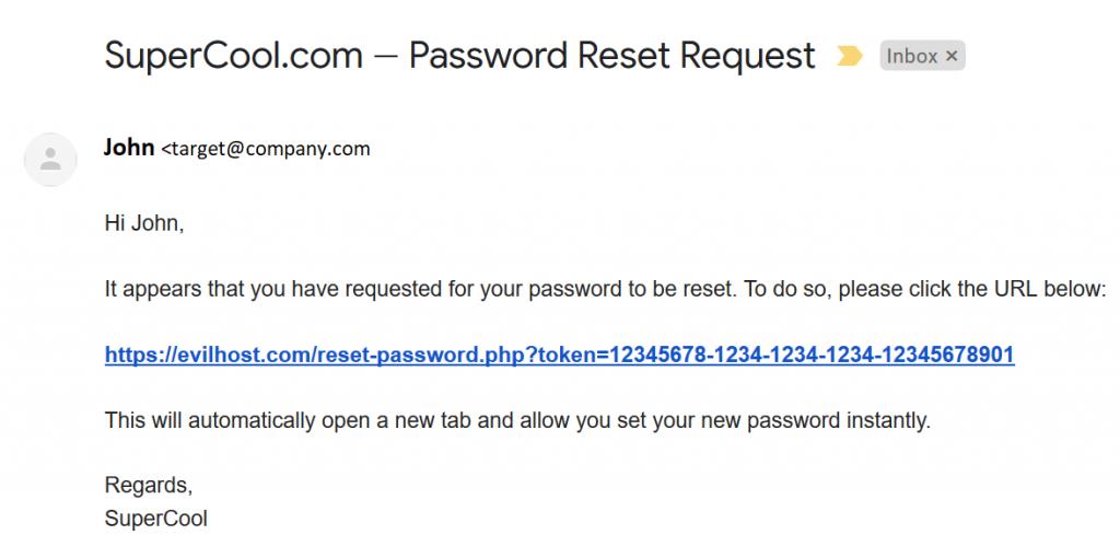 Password Reset Poisoning