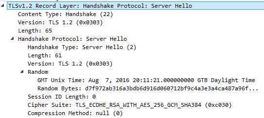 server hello wireshark capture