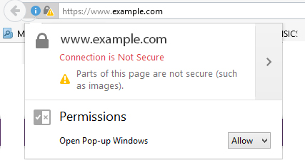 connection not secure
