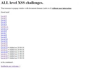 XSS Vulnerable Sites 5
