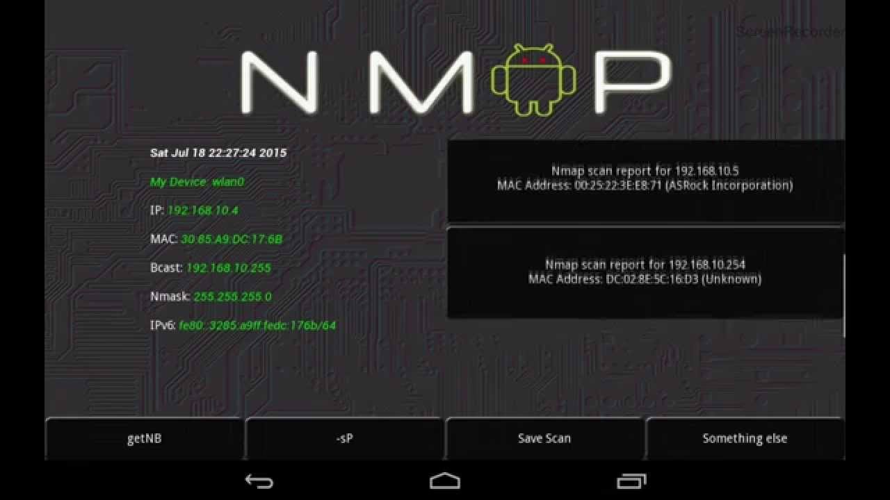 nmap on android phone