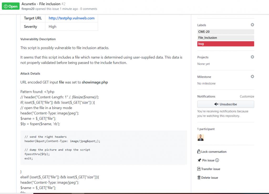 GitHub Vulnerability Details