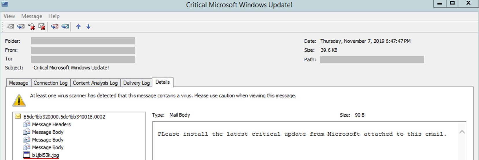 Cyborg ransomware fake windows update